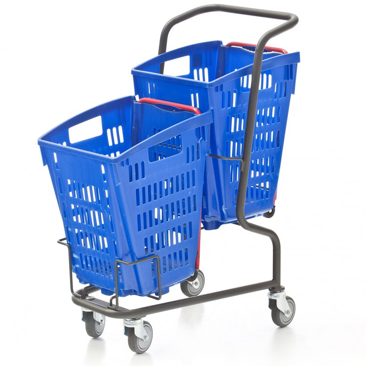 Multi-basket trolley