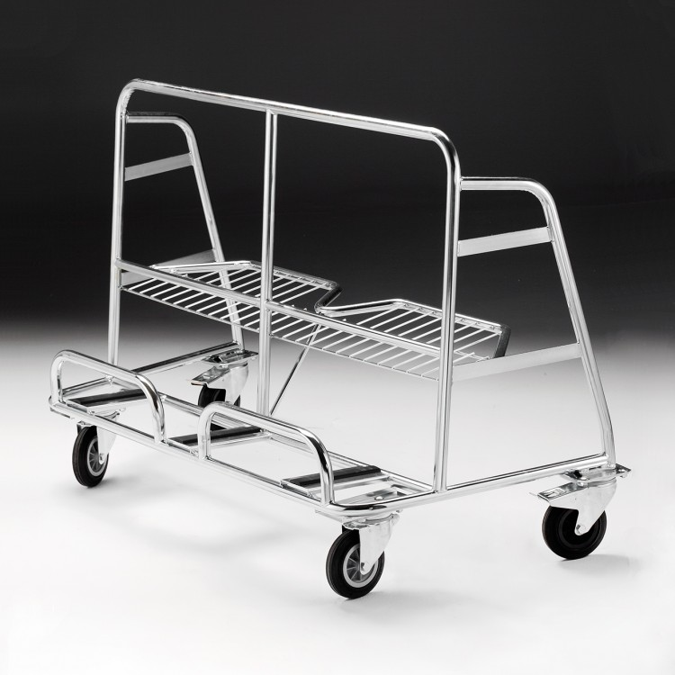 Nestable board-carrier trolley