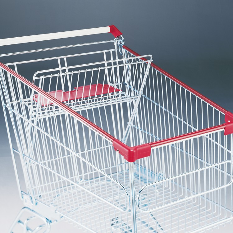 Plastic protectors for corners and top basket profile