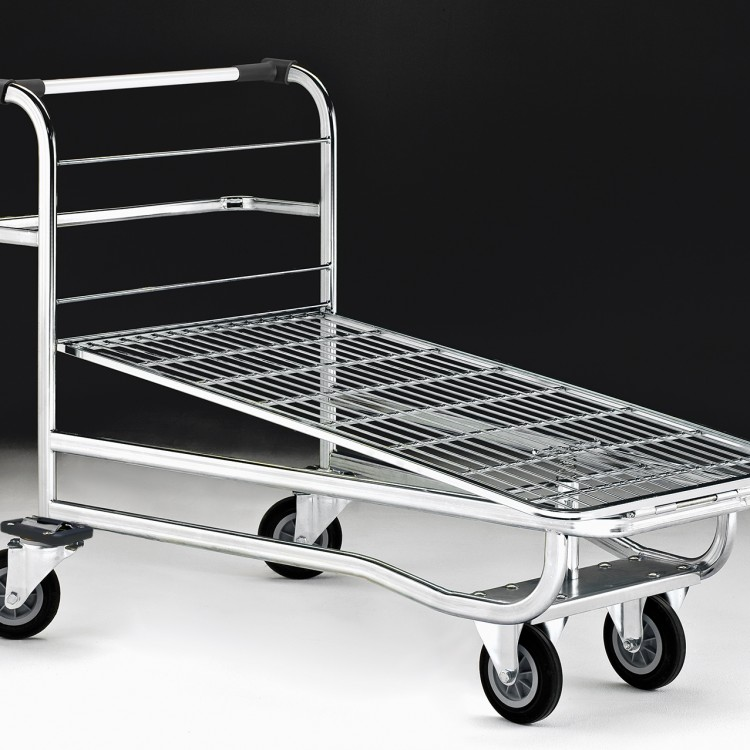 Transport trolleys for warehouse and stockroom