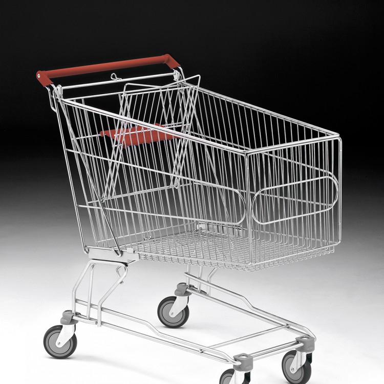 Metal shopping trolleys