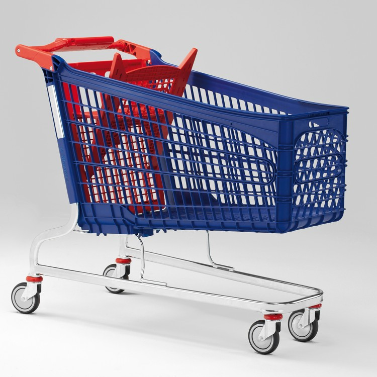 Polysteel shopping trolleys