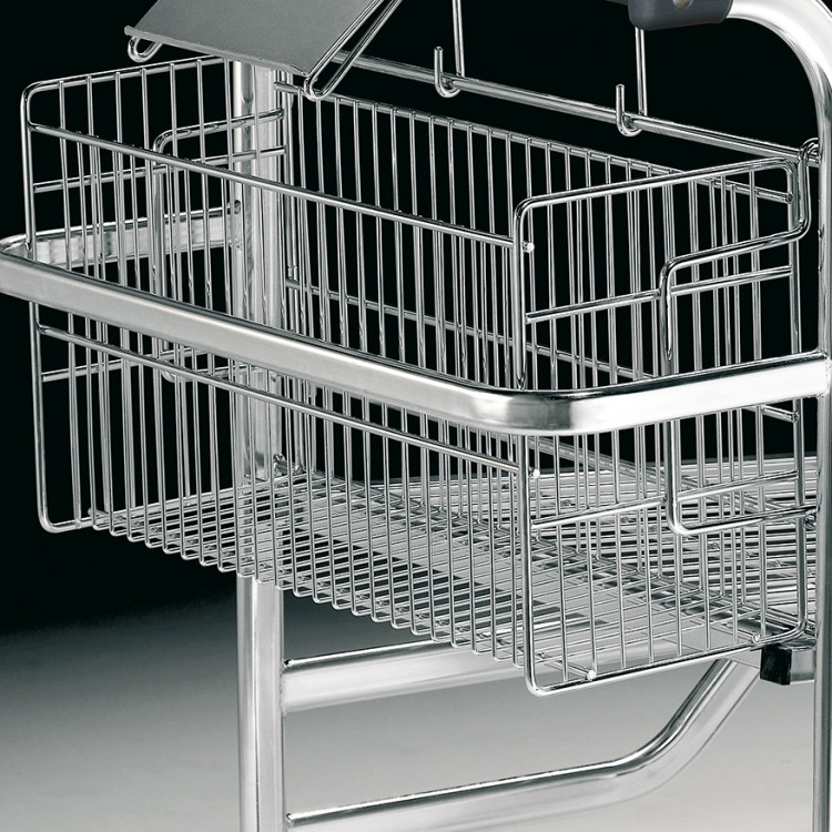 High capacity rear basket