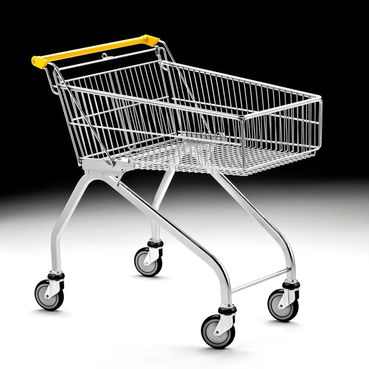 Light shopping trolley 100L.