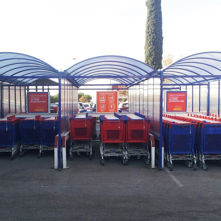 Transport trolley shelters