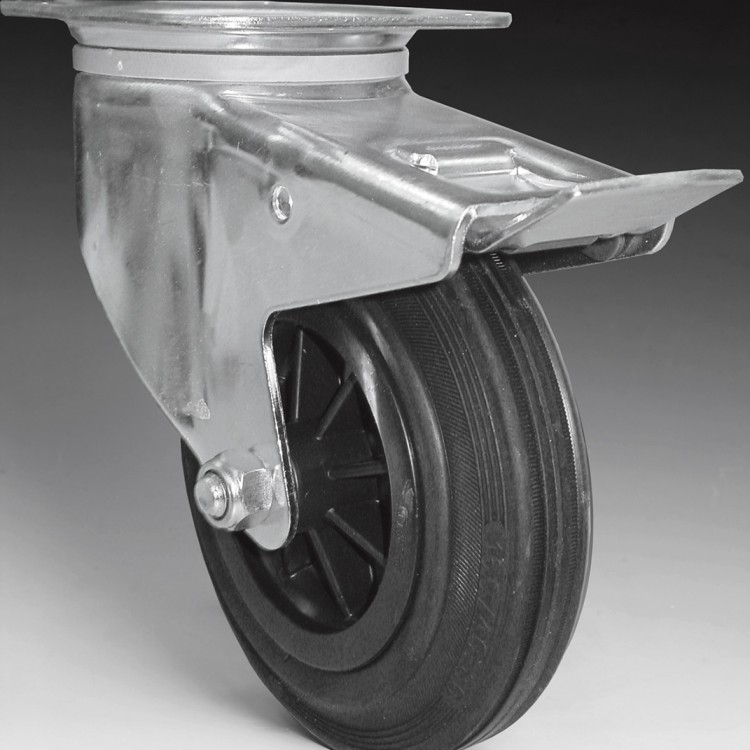 W108 F – Swivel wheel 160 Ø with foot brake