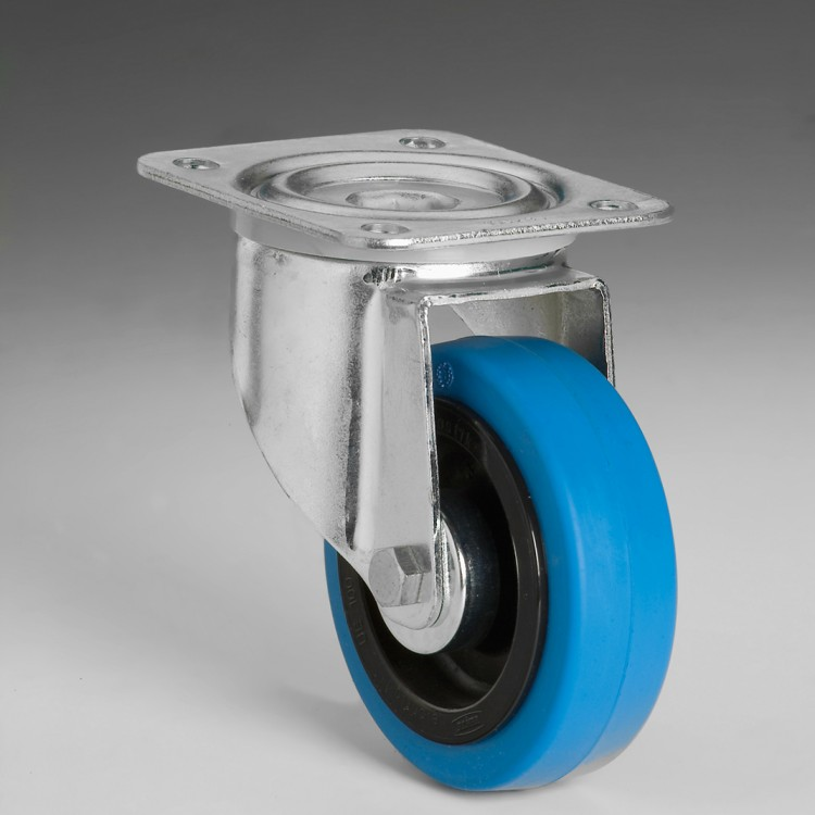 W116 – Swivel wheel 100 Ø elastic rubber