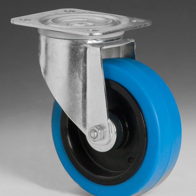 W118 – Swivel wheel 125 Ø elastic rubber