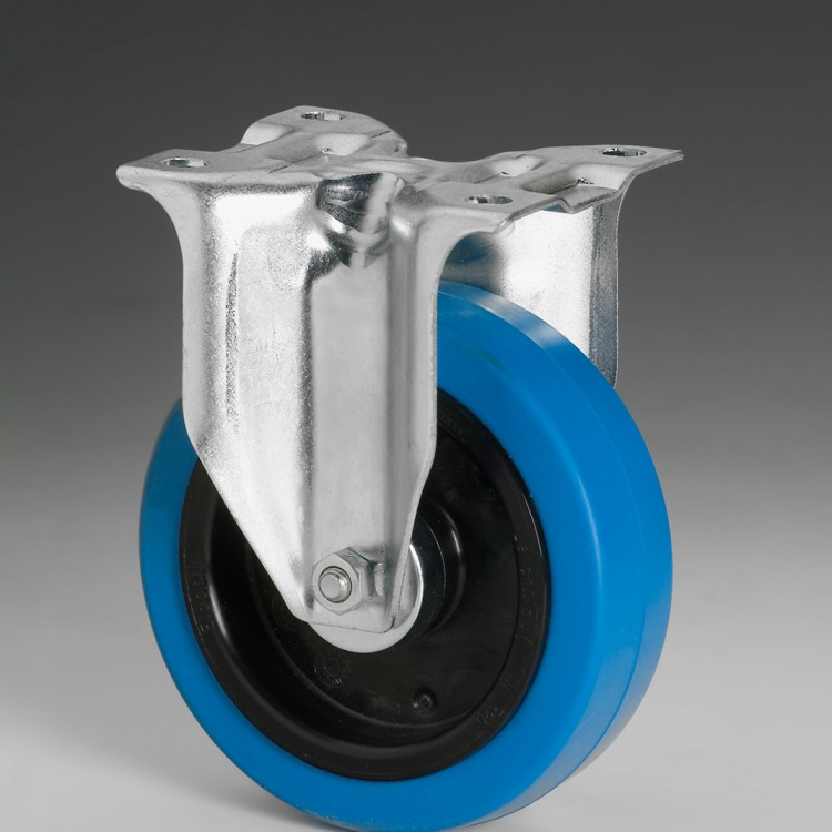 W119 –  Fixed wheel 125 Ø elastic rubber
