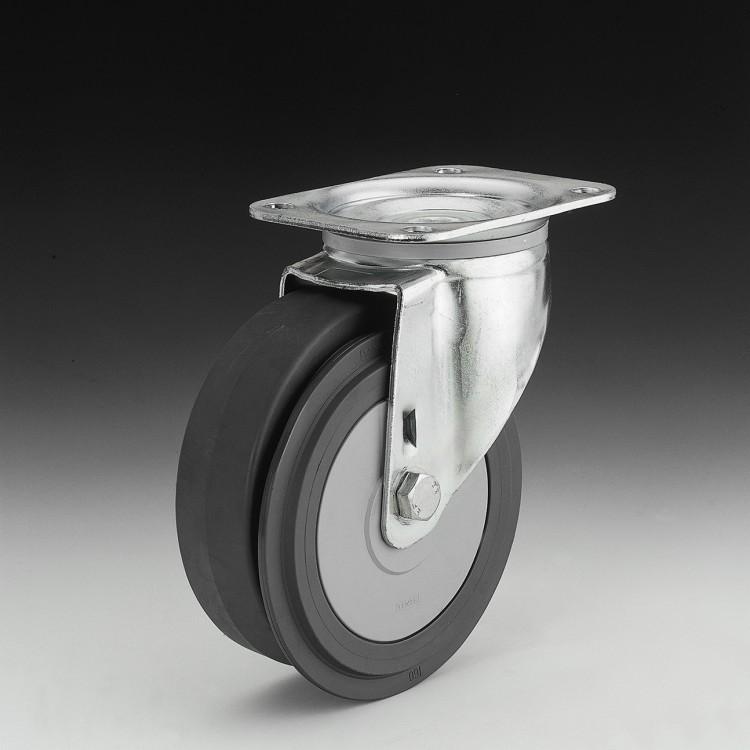 R120 – Lenkrolle 160 Ø – Fahrsteigrolle mit Radscheibenbremse
