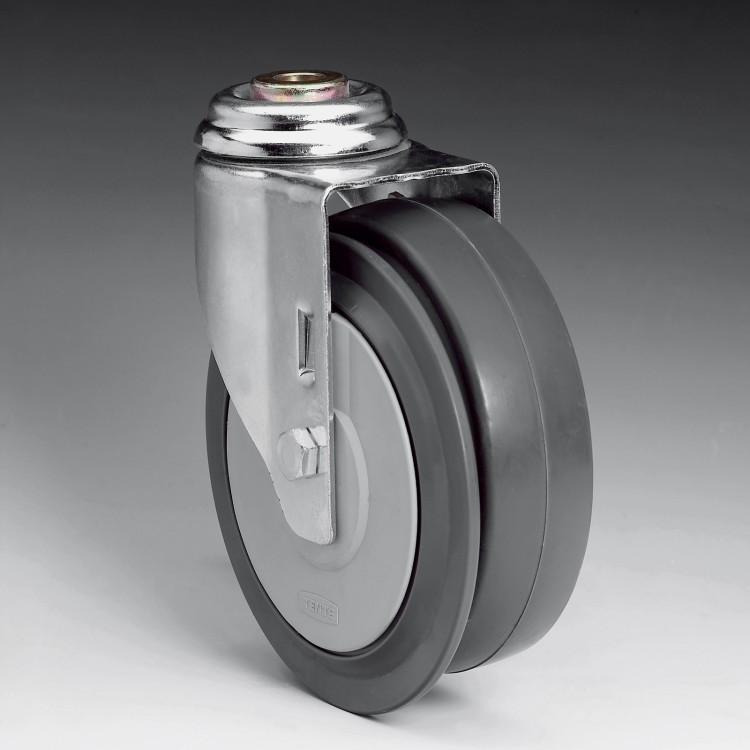 W7 – 125 Ø SWIVEL AUTOWALK WHEEL WITH DISC BRAKE