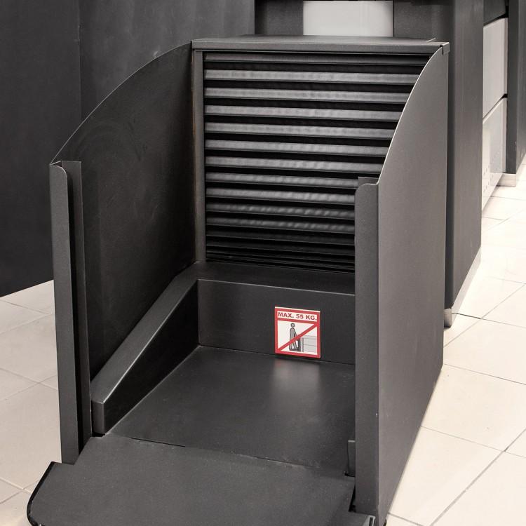 Elevador de cestas de compra