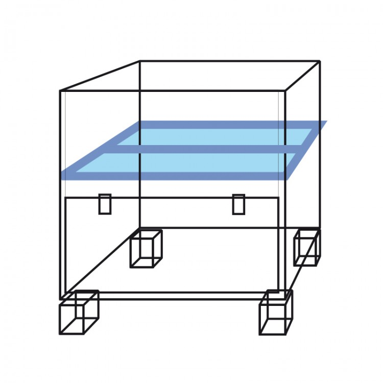 Horizontal divider container