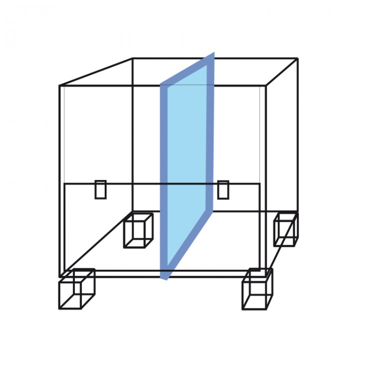 Vertical divider for container