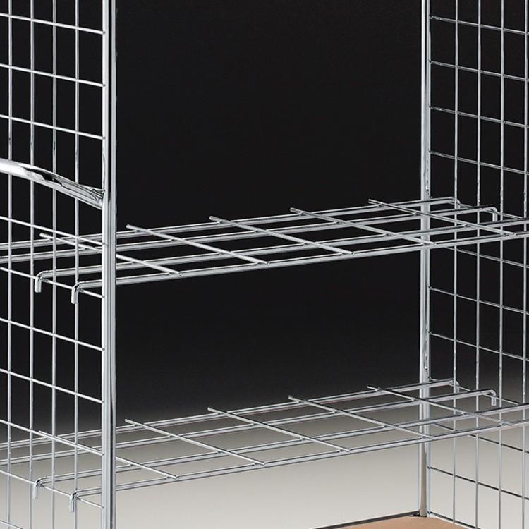 Wire shelf Goods trolley