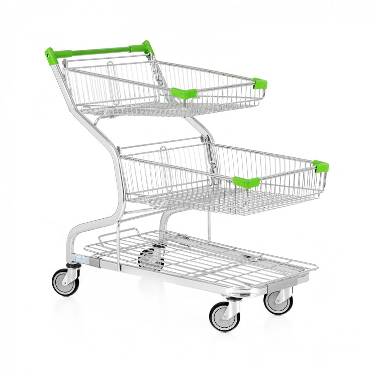 Twin basket trolley