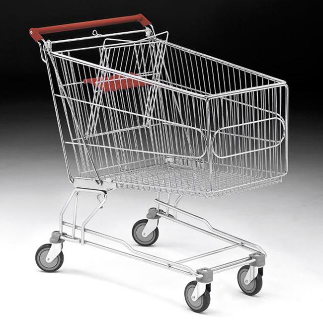 Metal shopping trolleys