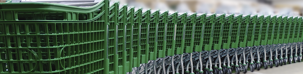 Carros de plástico para supermercados
