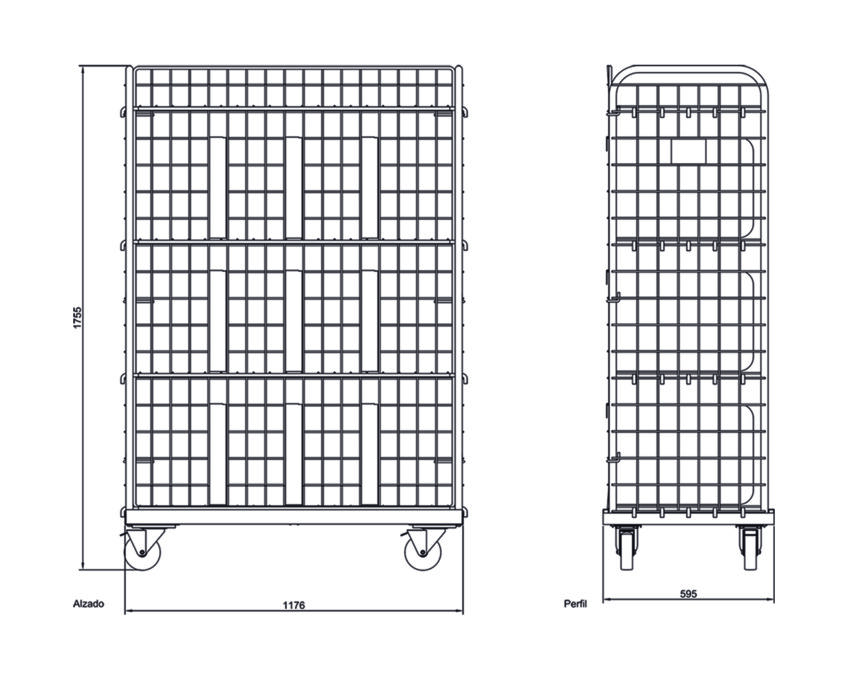 Ficha técnica postal trolley